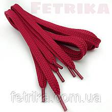 Шнурки плоские 7мм Kiwi красные 100 см