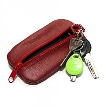 Кожаная ключница-кошелек Gofin на два отделения Красная SKG-10056, КОД: 1356639