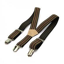 Детские Подтяжки Gofin suspenders В Полоску Бежевые Pbd-15010, КОД: 389934
