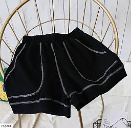 Женские трикотажные шорты с карманами