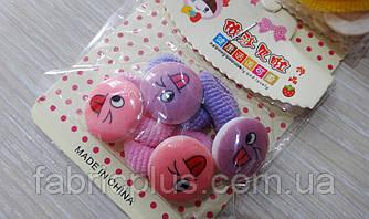 Детские резинки для волос Смайлики с язычками цвет в ассортименте(4 шт)