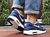 Синие кроссовки мужские в сетку, фото 2