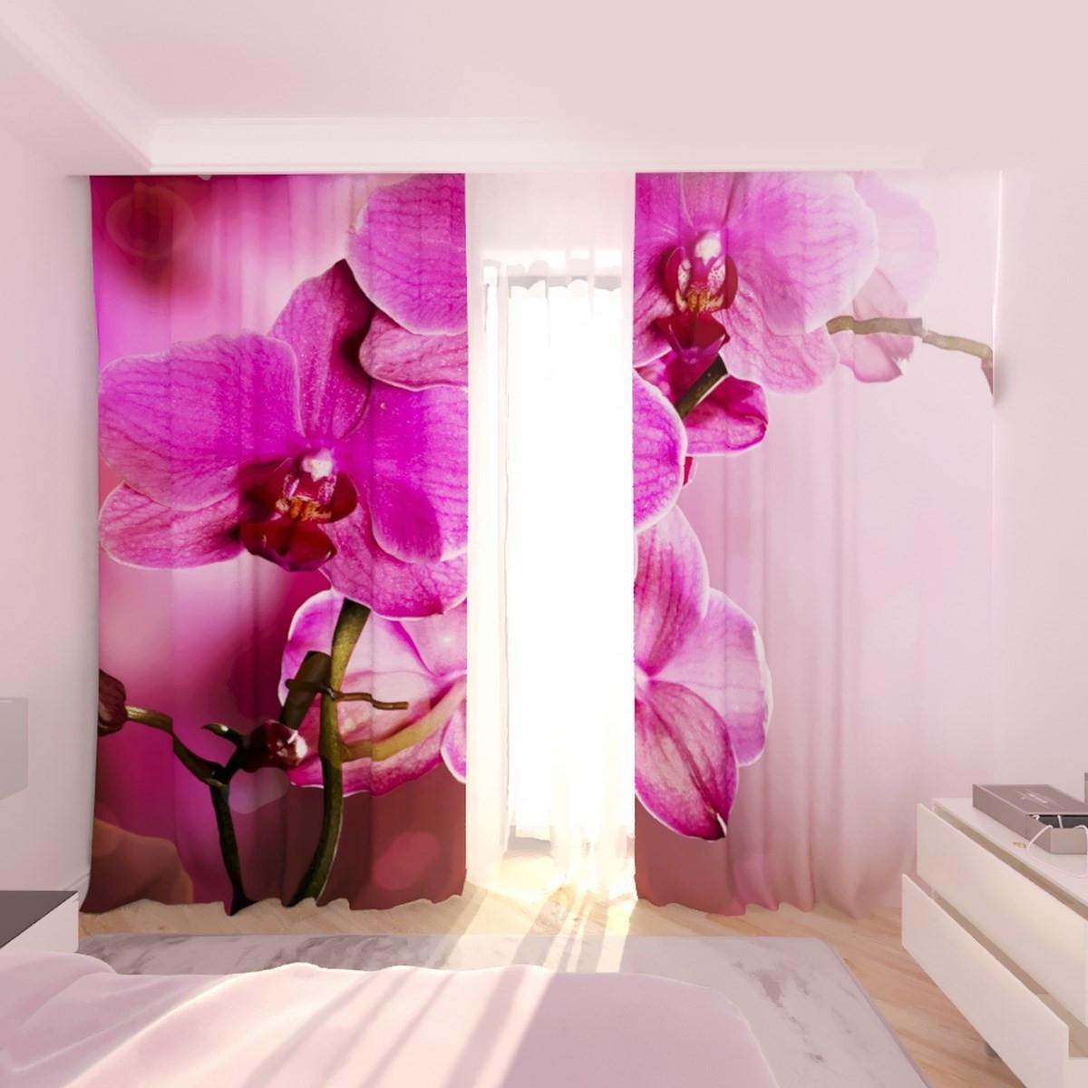Фотошторы фиолетовая орхидея