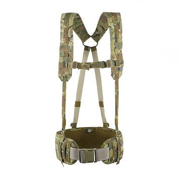 M-Tac пояс тактичний з плечовими ременями Scout Gen.2 Multicam