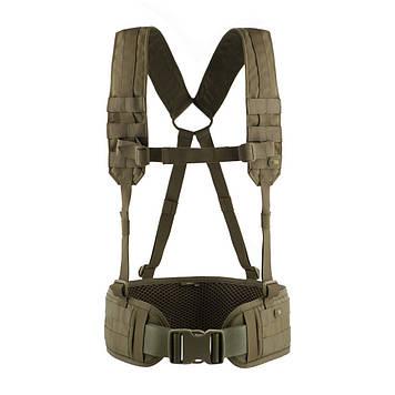 M-Tac пояс тактичний з плечовими ременями Scout Olive
