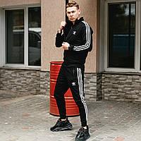 Спортивный костюм Adidas Originals черный (штаны, олимпийка)