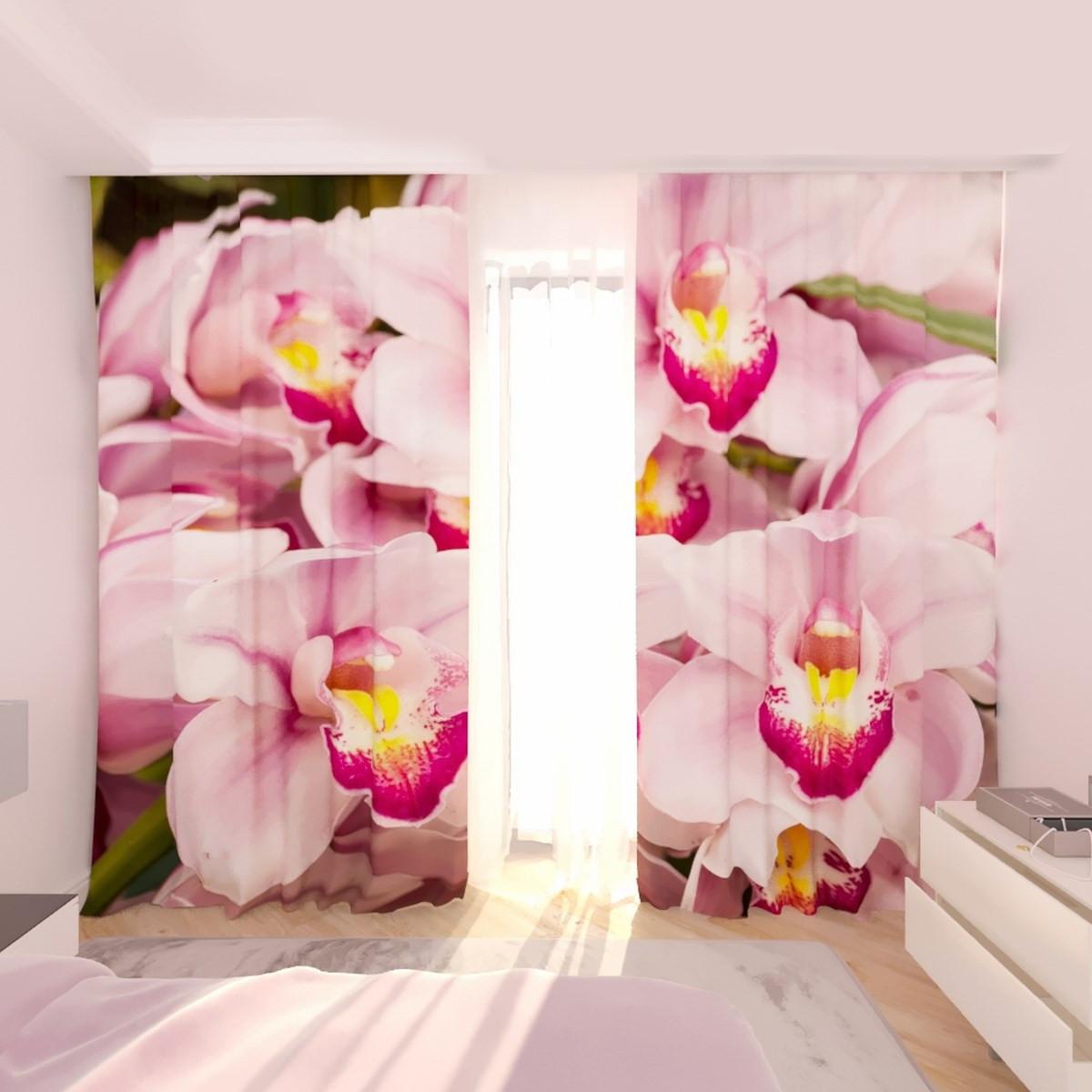 Фотошторы букет з орхідеї