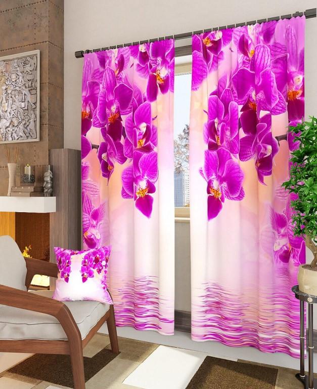 Фотошторы орхидея над рекой