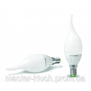 Светодиодная лампа Eurolamp 3.5W 220V E14 4100К Ceramic свеча на ветру