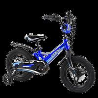 Велосипед детский для мальчика девочки 3 4 5 лет колеса 14 дюймов Corso MG-02044 магниевая рама литые диски, фото 1