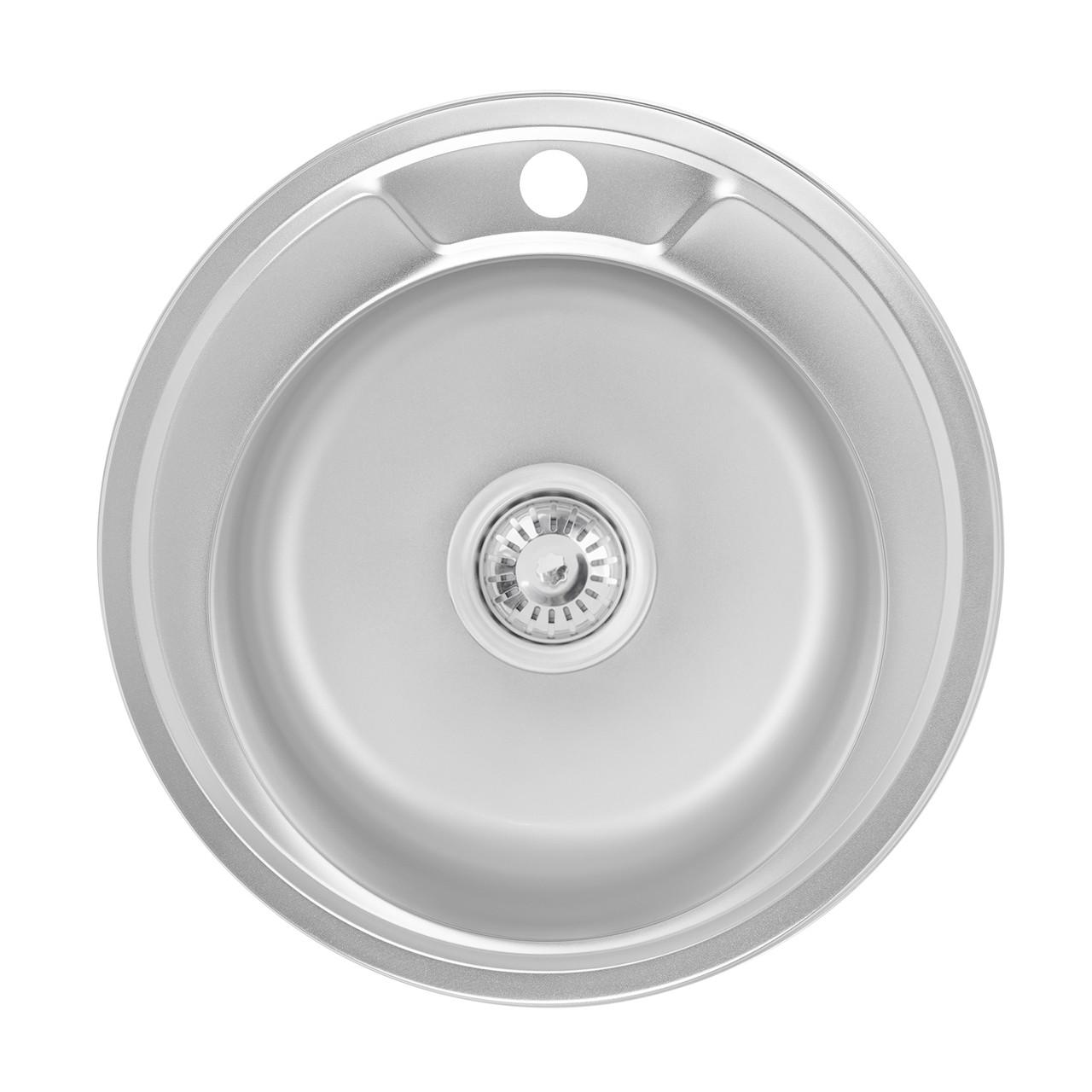 Кухонна мийка Lidz 490-A 0,6 мм Satin (LIDZ490A06SAT160)