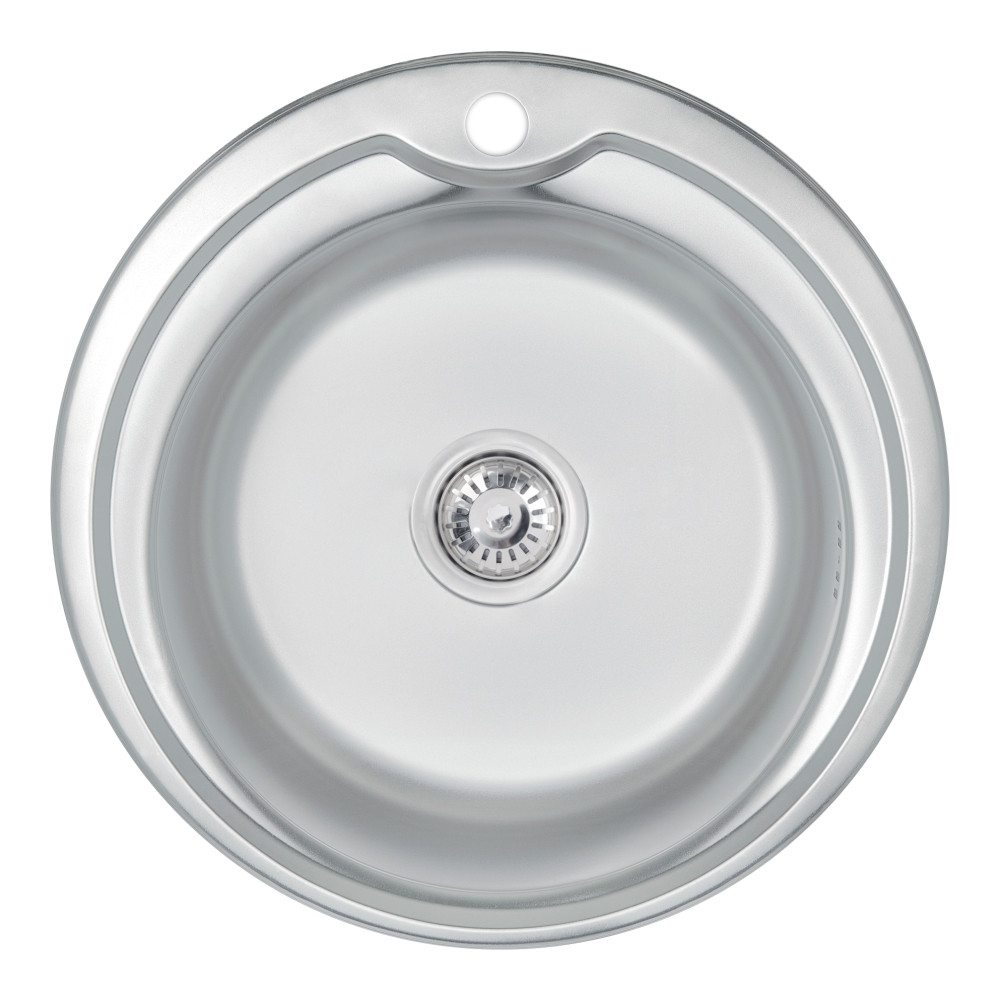 Кухонна мийка Lidz 510-D 0,6 мм Satin (LIDZ510D06SAT)