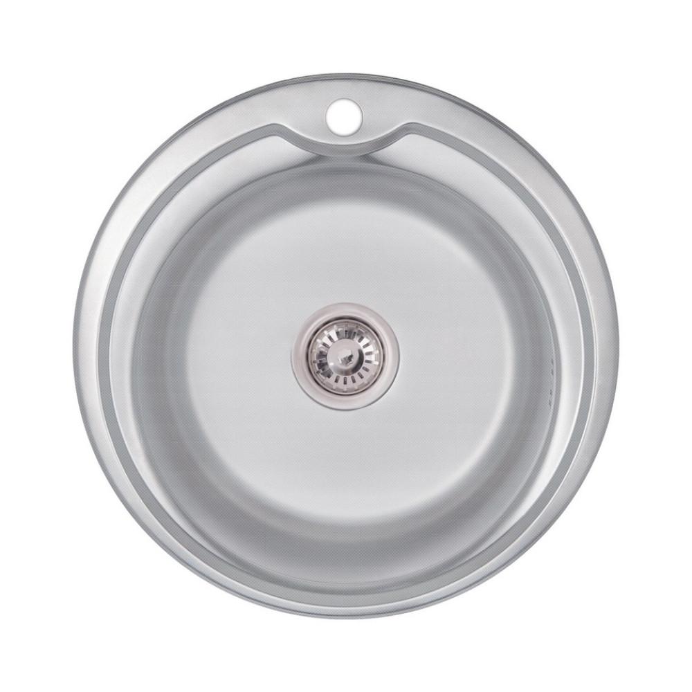 Кухонна мийка Lidz 510-D Decor 0,6 мм (LIDZ510D06DEC)