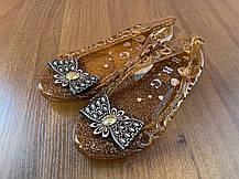 Стильные прозрачные туфли балетки с бантиком, фото 2