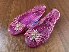 Стильные прозрачные туфли балетки с бантиком, фото 3