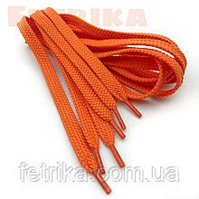 Шнурки плоские 7мм Kiwi оранжевые 100 см