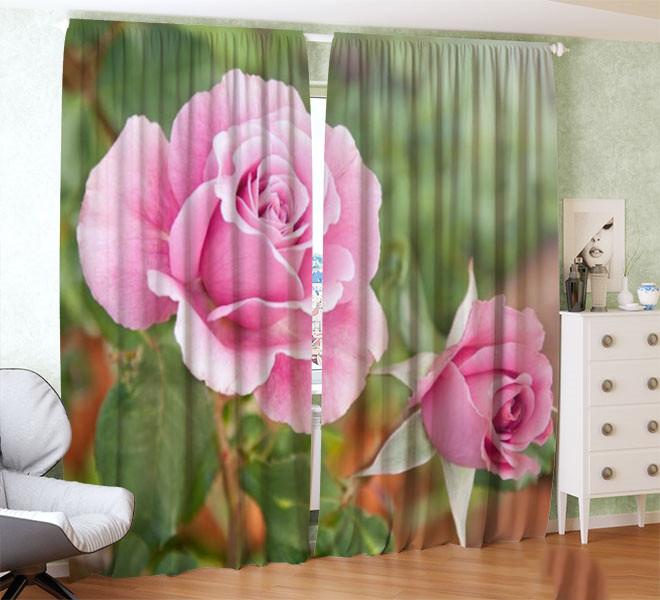 Фотошторы кущ з трояндами