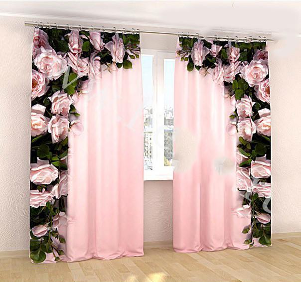 Фотошторы рожева арка