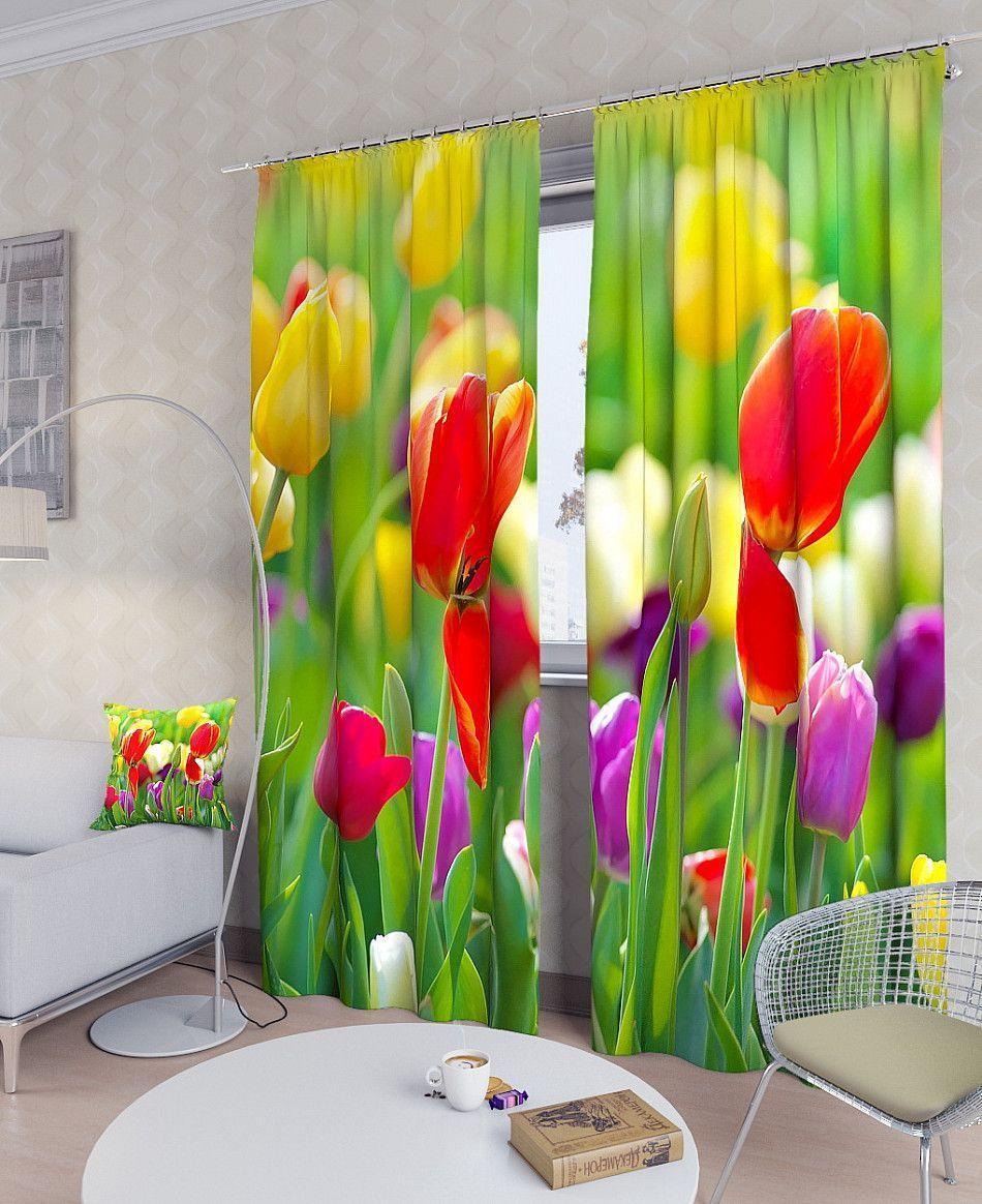 Фотошторы тюльпанова клумба