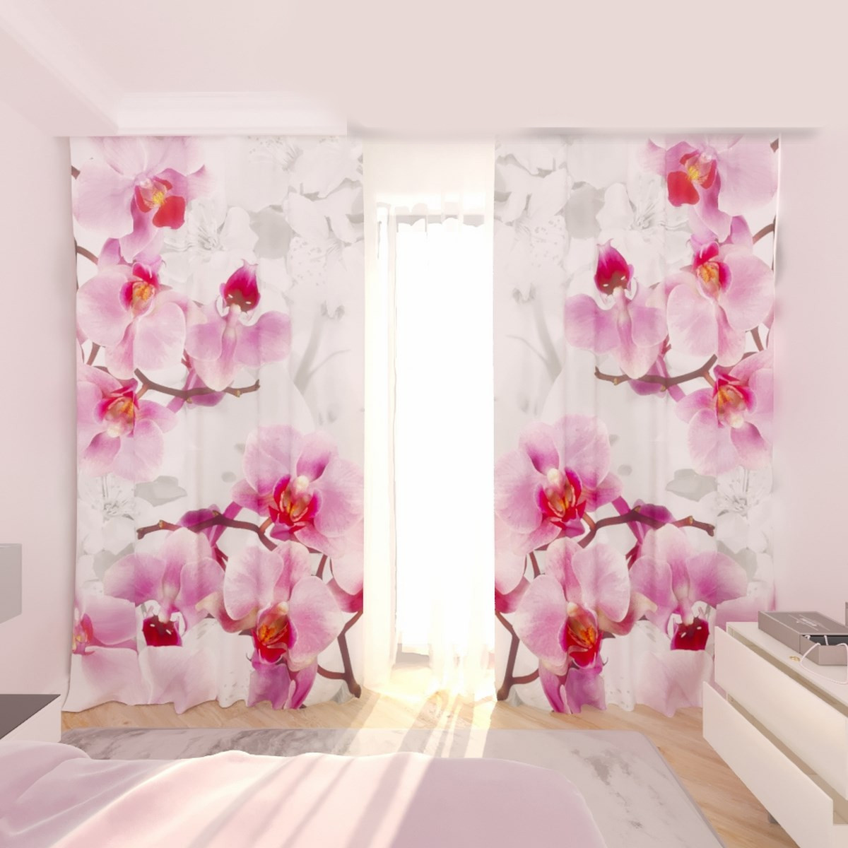 Фотошторы орхидея и яблоня
