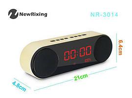 Портативна Bluetooth Колонка NewRixing NR-3014 Годинник Будильник