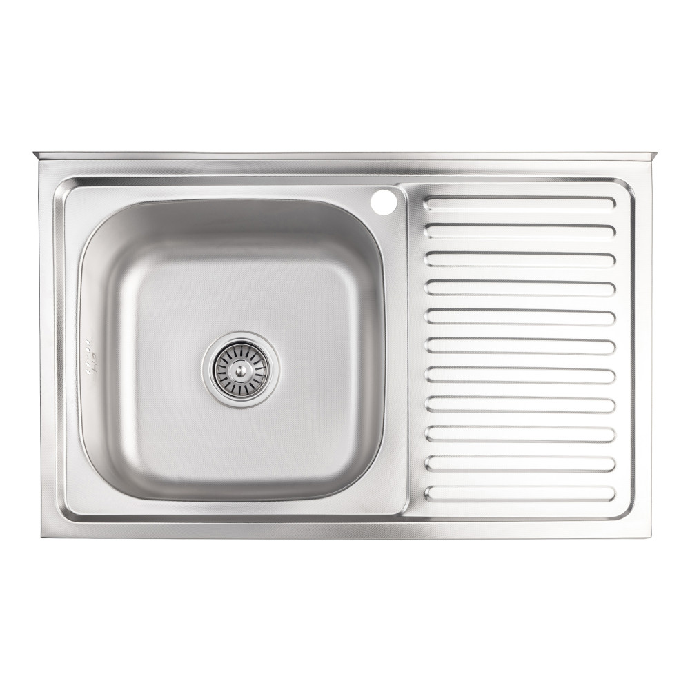 Кухонна мийка Lidz 5080-L 0,8 мм Decor (LIDZ5080LDEC06)