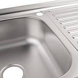 Кухонна мийка Lidz 5080-L 0,8 мм Decor (LIDZ5080LDEC06), фото 6