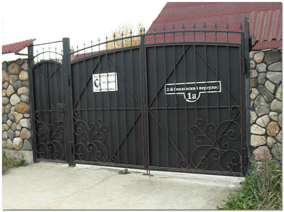 Кованые узоры на ворота