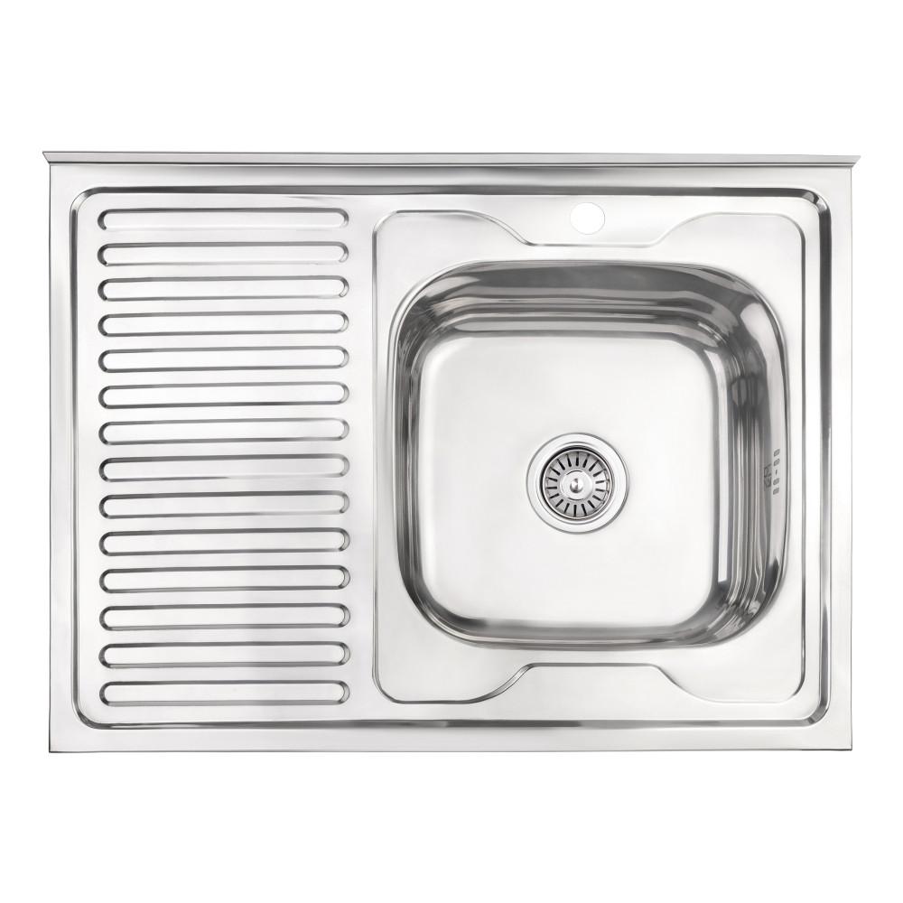 Кухонна мийка Lidz 6080-R 0,6 мм Polish (LIDZ6080RPOL06)