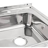 Кухонна мийка Lidz 6080-R 0,6 мм Polish (LIDZ6080RPOL06), фото 6