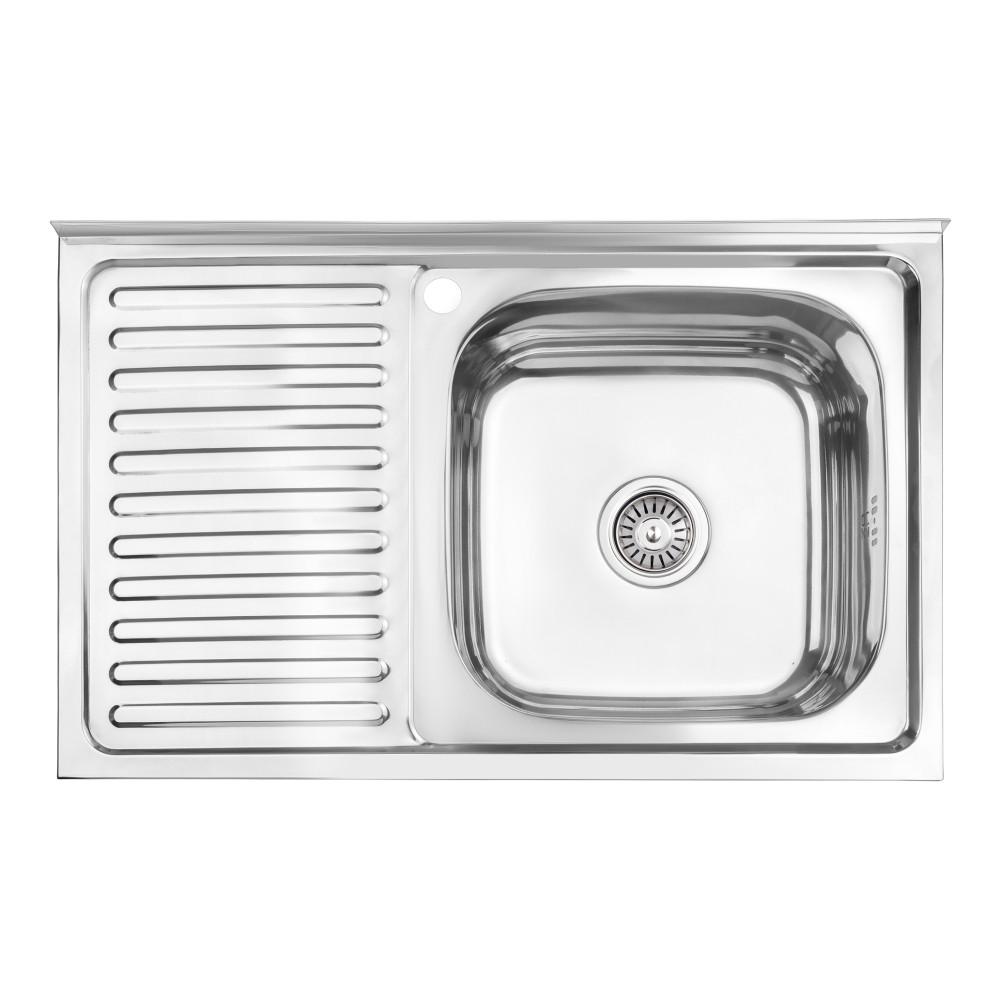 Кухонна мийка Lidz 5080-R 0,8 мм Polish (LIDZ5080RPOL06)