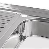 Кухонна мийка Lidz 5080-R 0,8 мм Polish (LIDZ5080RPOL06), фото 6