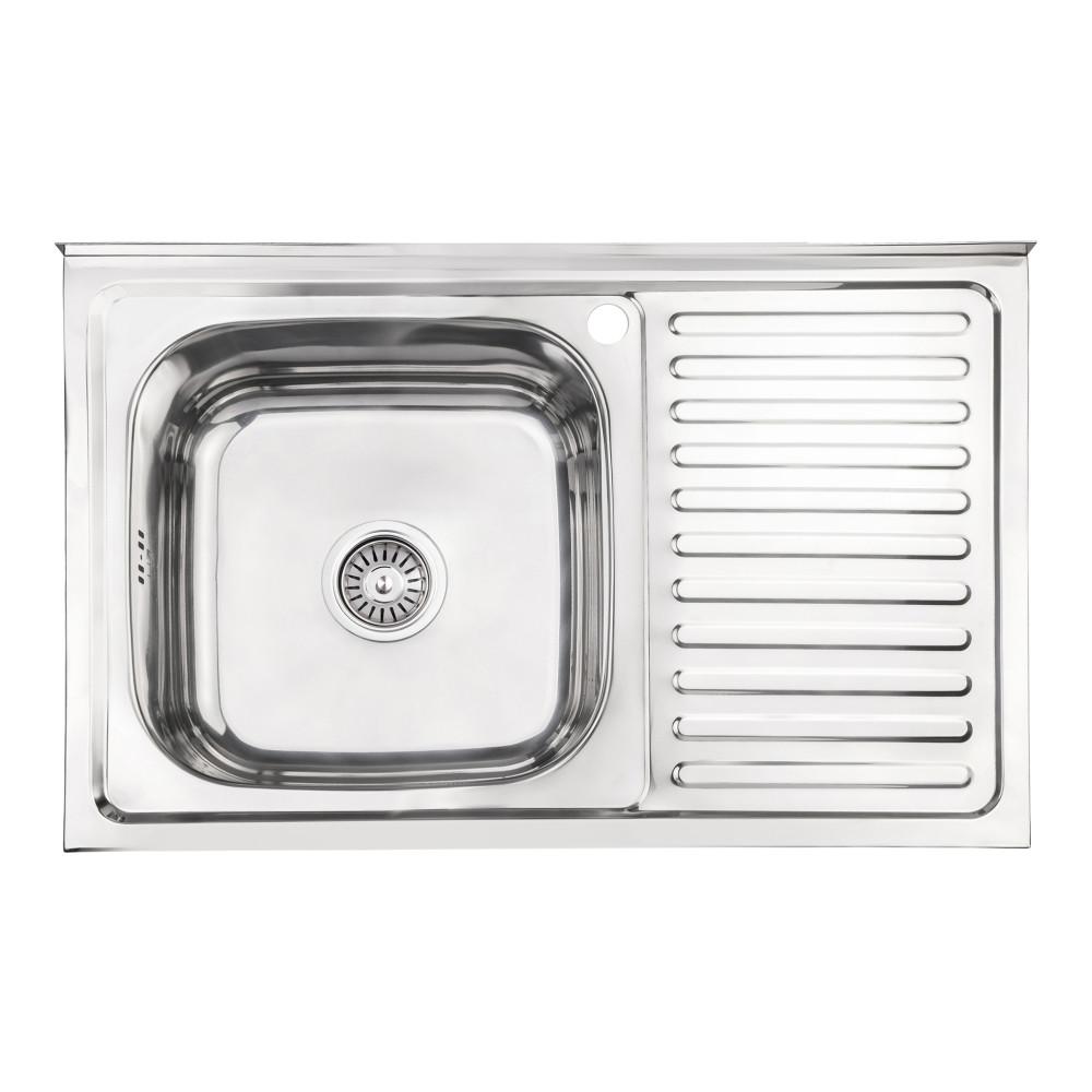 Кухонна мийка Lidz 5080-L 0,8 мм Polish (LIDZ5080LPOL08)