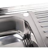 Кухонна мийка Lidz 5080-L 0,8 мм Polish (LIDZ5080LPOL08), фото 6