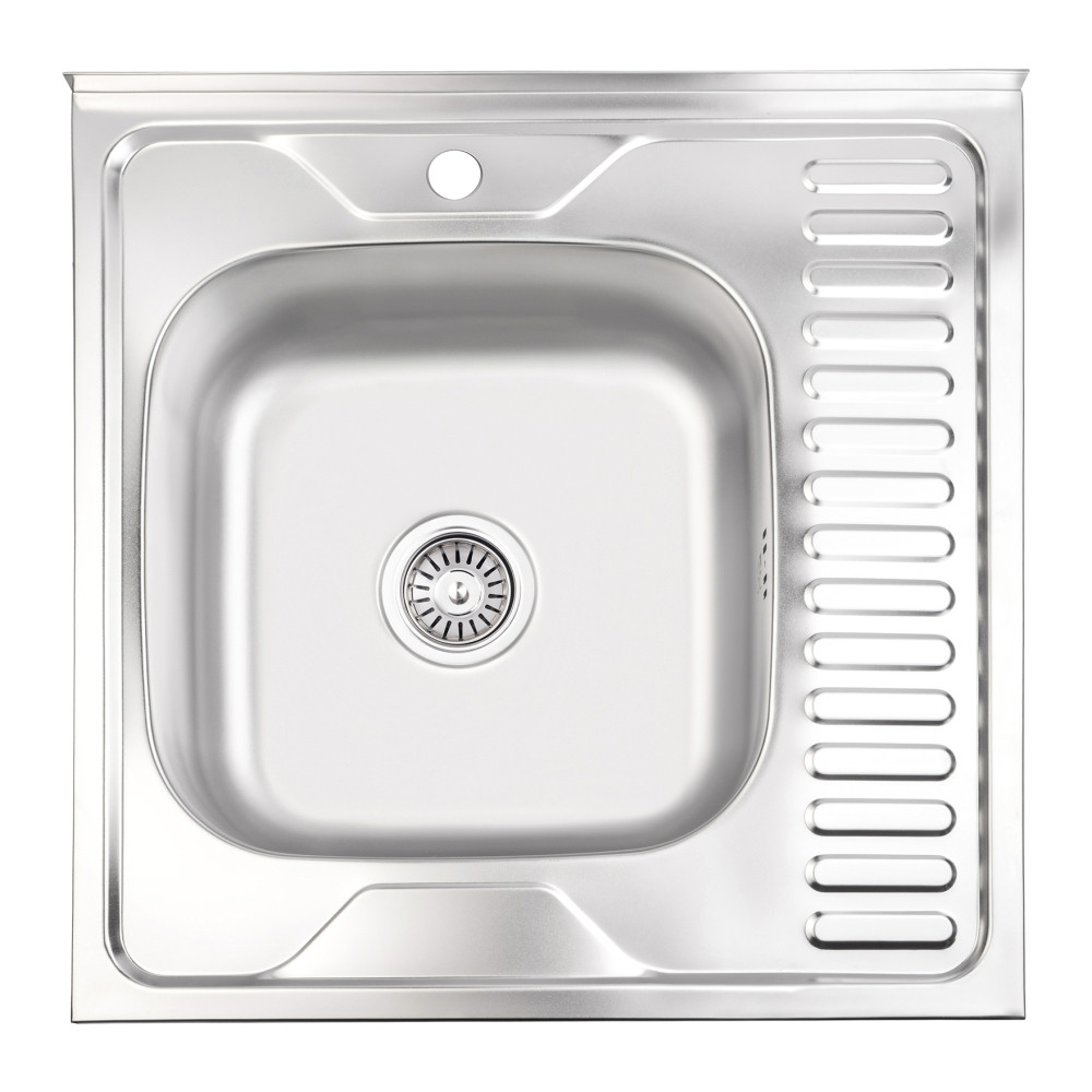 Кухонна мийка Lidz 6060-L 0,6 мм Satin (LIDZ6060SAT06)