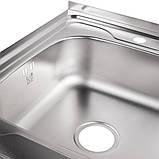 Кухонна мийка Lidz 6080-L 0,8 мм Satin (LIDZ6080LSAT8), фото 6