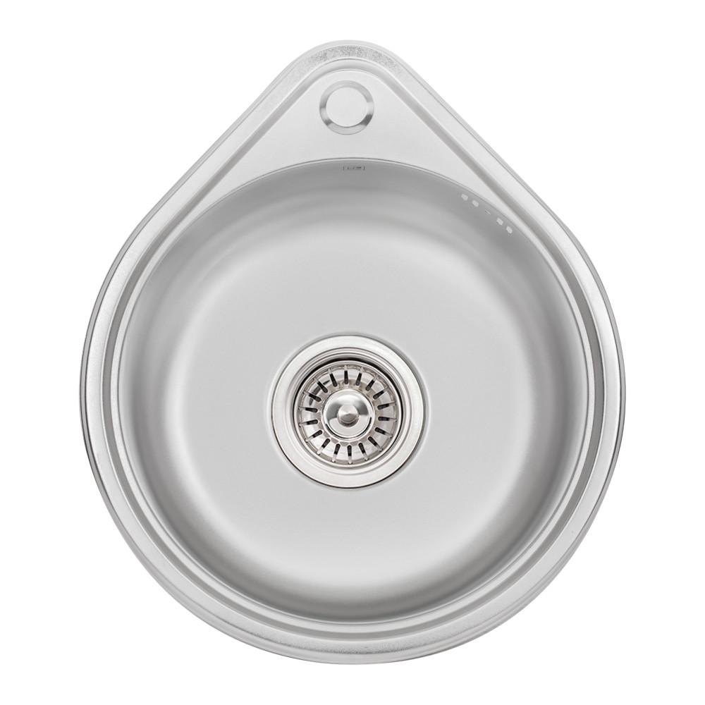 Кухонна мийка Lidz 4539 0,8 мм Satin (LIDZ4539SAT8)