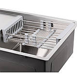 Кухонна мийка Lidz H7850 3.0/1.0 мм Brush (LIDZH7850BRU3010), фото 6