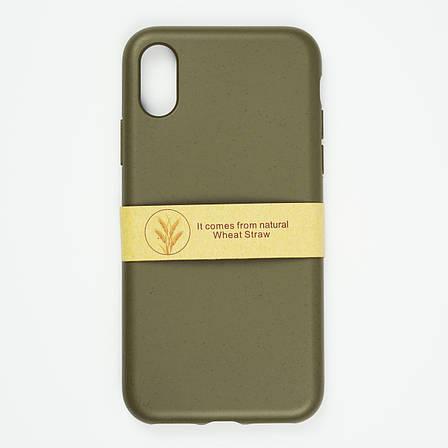 Биоразлагаемый чехол ECO Wheat Straw для iPhone X / Xs Green, фото 2
