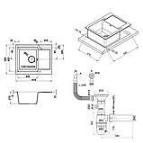 Кухонна мийка Lidz 625x500/200 BLM-14 (LIDZBLM14625500200), фото 2