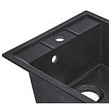 Кухонна мийка Lidz 460х515/200 BLA-03 (LIDZBLA03460515200), фото 5