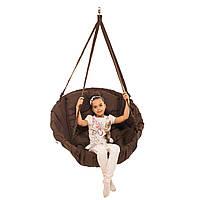 Качеля коричневая нагрузка 200 кг подвесное кресло качель коричневое