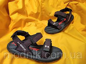 Чоловічі літні сандалі Under Armour Sandals Fattire Michelin x (червоно-чорні) D115 крута легка взуття