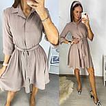 Жіноче літнє плаття з поясом, фото 2
