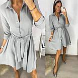 Жіноче літнє плаття з поясом, фото 5
