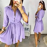 Жіноче літнє плаття з поясом, фото 4