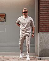 Сірий спортивний костюм чоловічий | Туреччина | штани + футболка, рукав 3/4 | оверсайз, фото 1