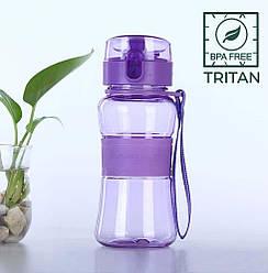 Пляшка для води CASNO 400 мл KXN-1104 Tritan Фіолетова
