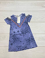 Сукня для дівчаток (джинсовий трикотаж). 4 - 6 років.
