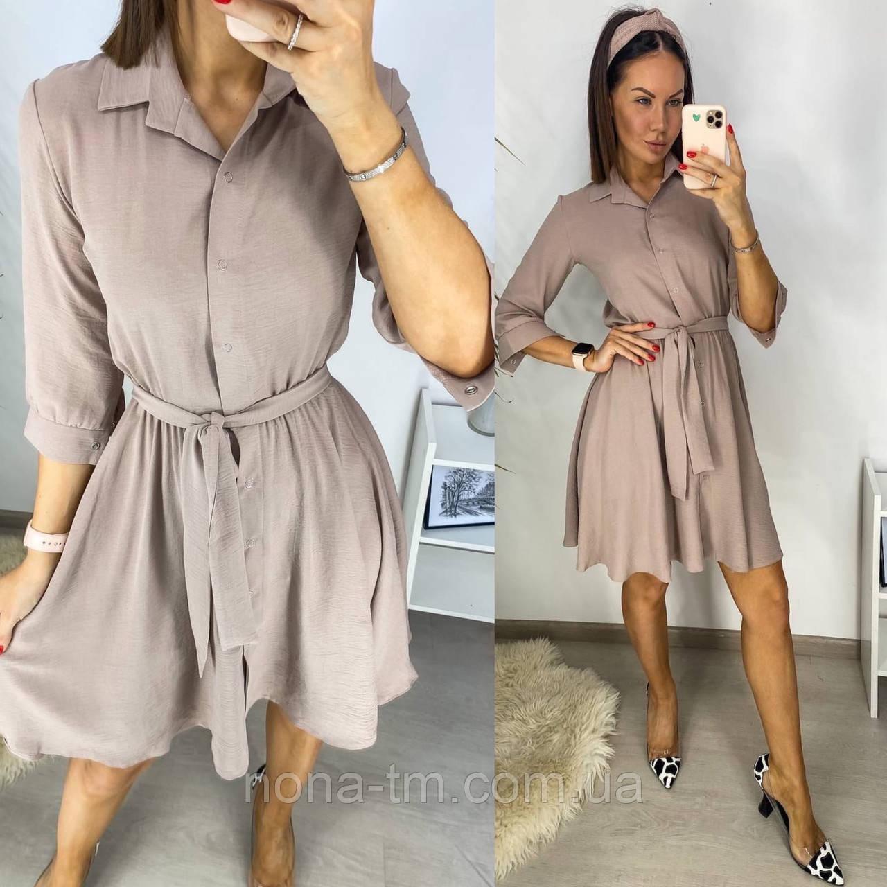 Платье женское летнее креп жатка